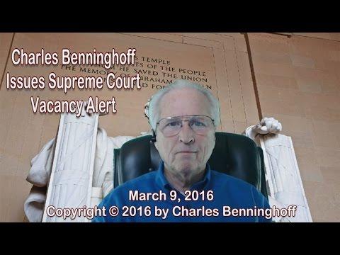Charles Benninghoff: Supreme Court Vacancy Alert