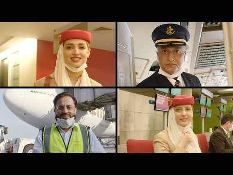 Emirates Operates Flight with Fully Vaccinated Frontline Teams | Emirates Airline