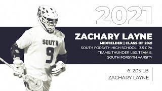 Zachary Layne '21 | Lacrosse Highlights 2020 - South Forsyth High School