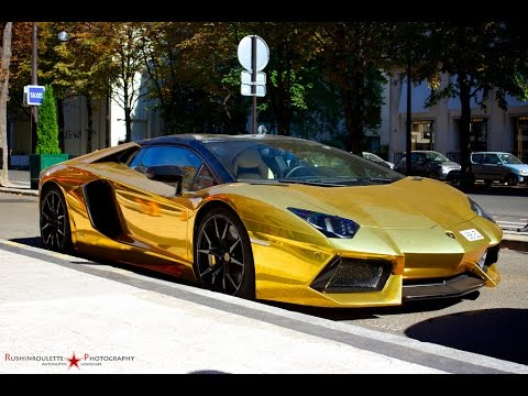 Top 10 Luxury Cars In The World 2015 2016 Gold Cars P1 Youtube