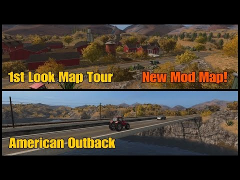 Let's Play Farming Simulator 17 PS4: American Outback, 1st Look Map Tour (New Mod Map)