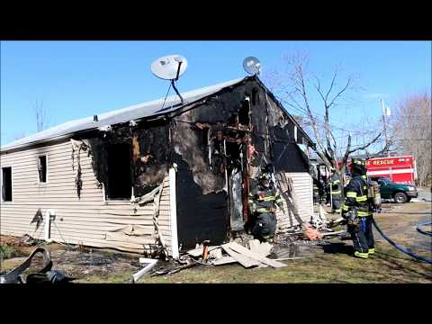 FIRE GUTS HOUSE IN NORTH BELLPORT NY