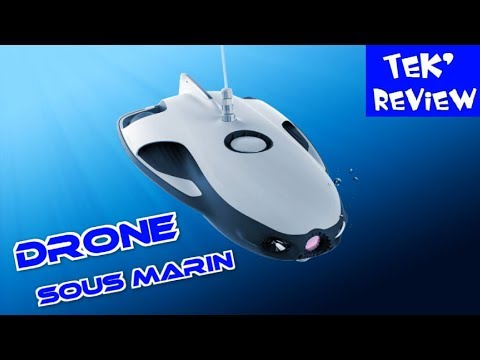 DRONE SOUS MARIN avec SONAR - UNDERWATER ROBOT - TESTS POWERRAY POWERVISION