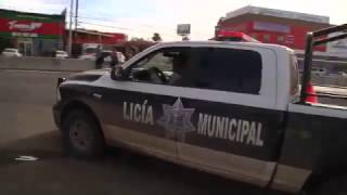 Truck Drivers Rams Police Line at Baja California Gasoline Protest