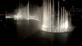 The Dubai Fountain performing the  Waves by Bijan Mortazavi