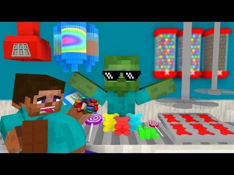 Monster School: WORK AT CANDY FACTORY PLACE! - Minecraft Animation
