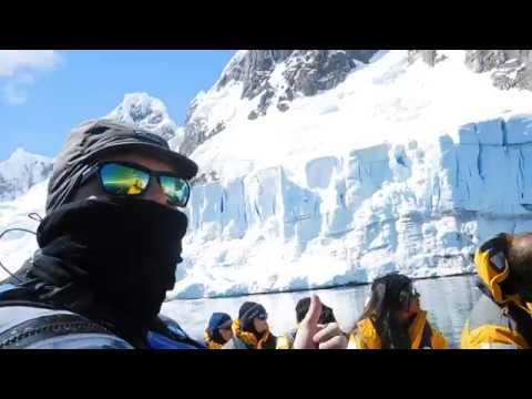 Antarctica.  A little too close to a Glacier.