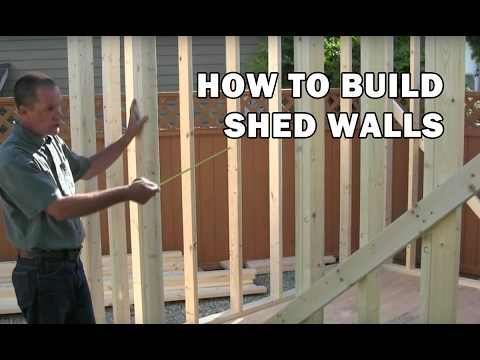 How to Build a Shed  How to Frame Walls For a Shed  Video 5 of 15  YouTube