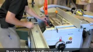 Changing The Main Blade Of A Sliding Table Saw