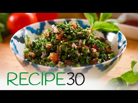 How to make the perfect taboule or tabbouleh, a Super Healthy Lebanese  Salad