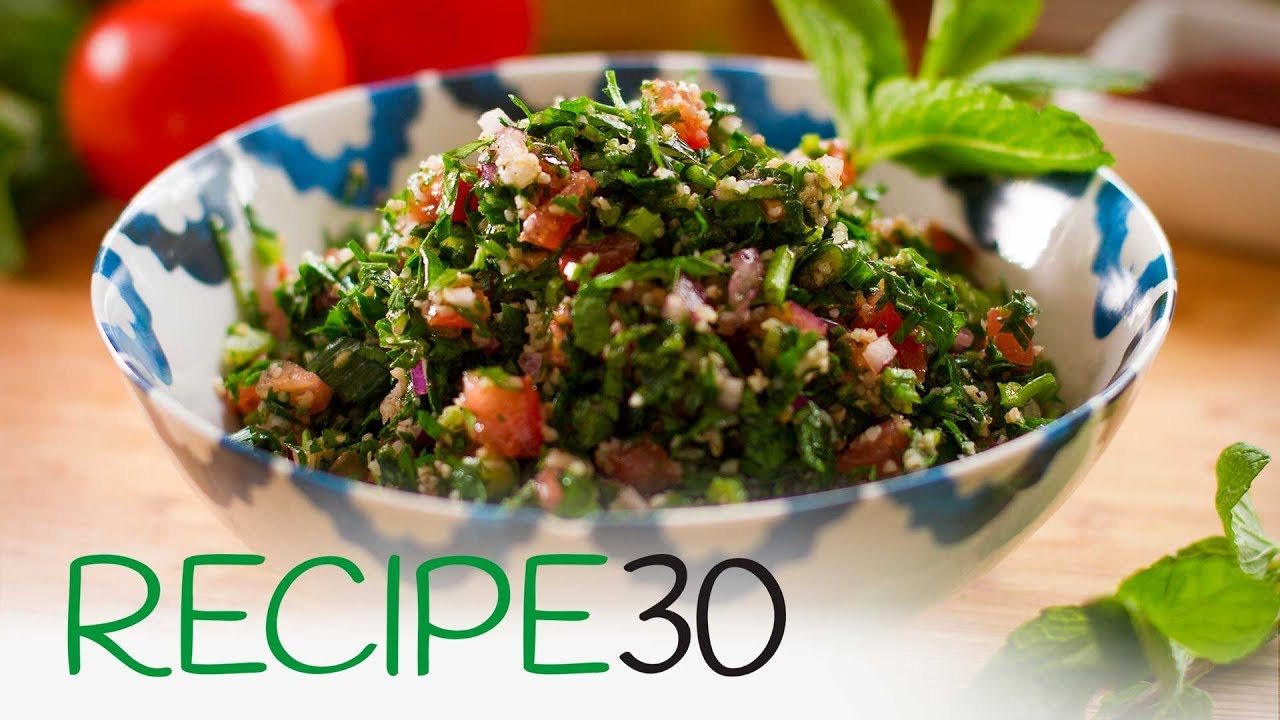 How to make the perfect taboule or tabbouleh, a Super Healthy Lebanese Salad - YouTube