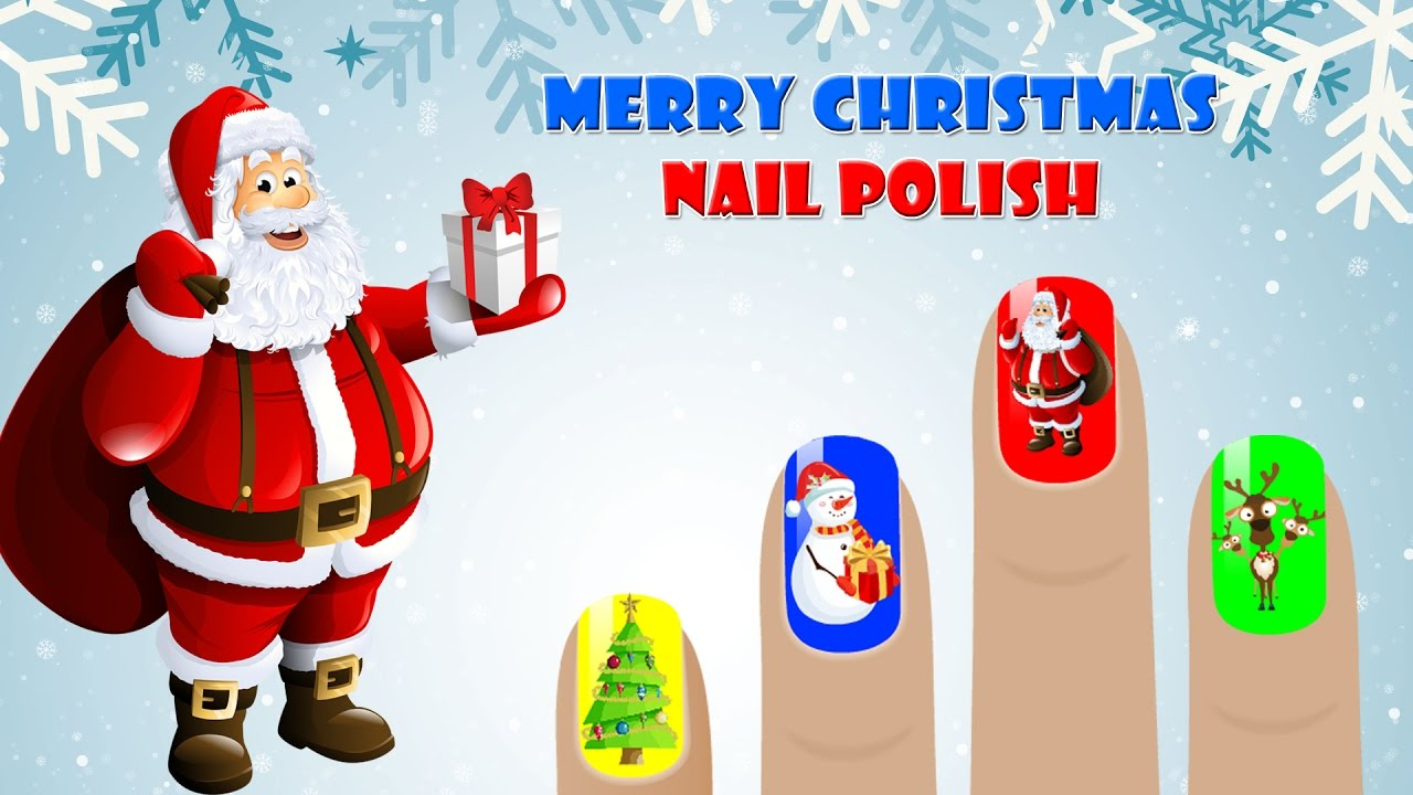 learn colors for kids merry christmas surprise nails polish children toddler videos