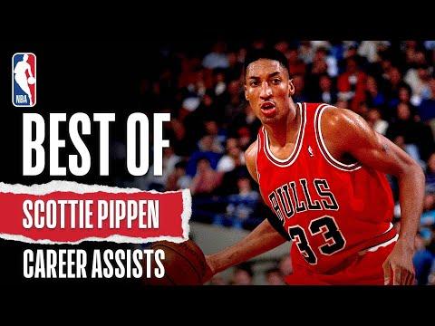Best Of Scottie Pippen Career Assists   #NBAHistory