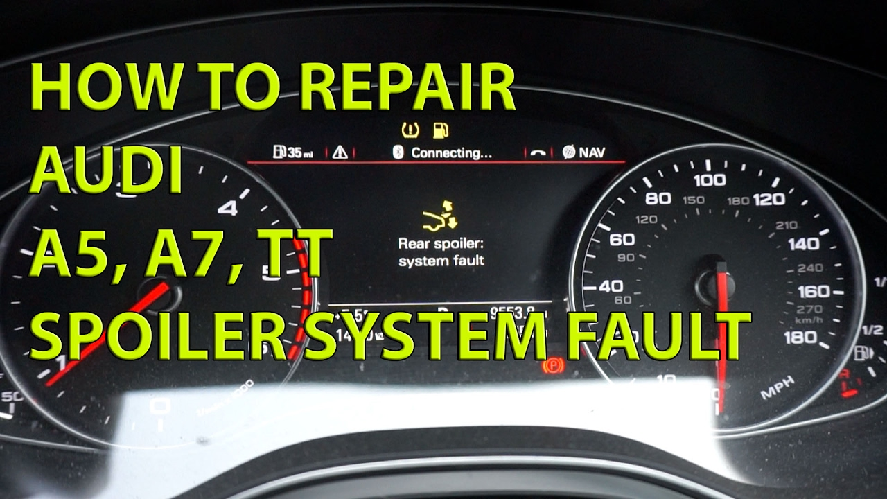 how to fix audi a7 boot spoiler system repair fault youtube. Black Bedroom Furniture Sets. Home Design Ideas