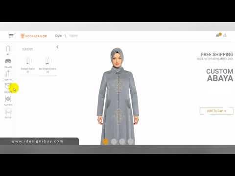 AbayaDesigningSoftware for Online Shop