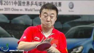 MA Lin CHN vs JOO Se Hyuk KOR. China vs World Team 2011 in Shenzhen