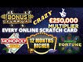 EVERY ONLINE Scratch cards today game from National Lottery©