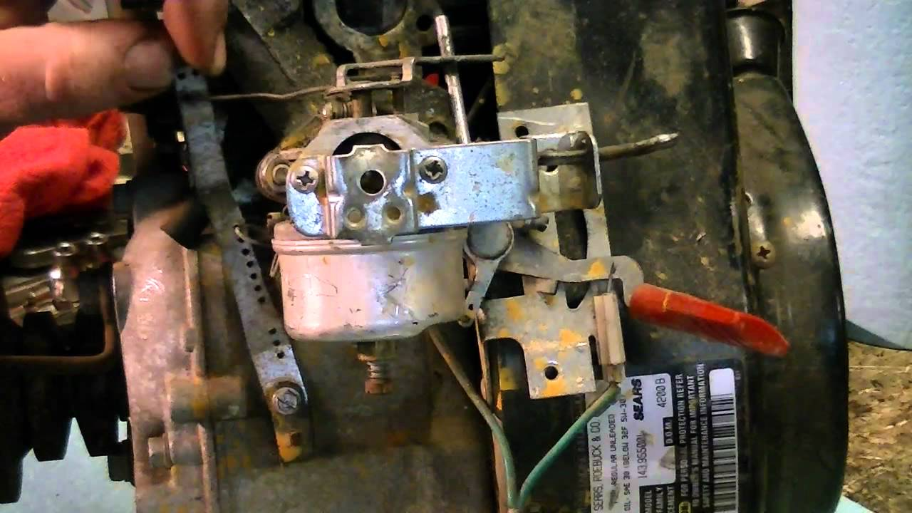 10 hp briggs and stratton carburetor diagram wiring for honeywell thermostat rth2300b tecumseh governor fix - youtube