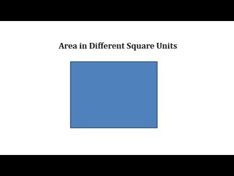 Determine Area in Square Inches and Square Feet