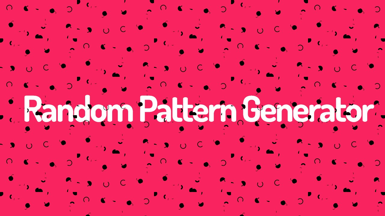 Random Background Pattern Generator