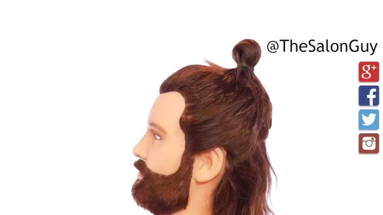 gareth bale top knot tutorial- thesalonguy - youtube