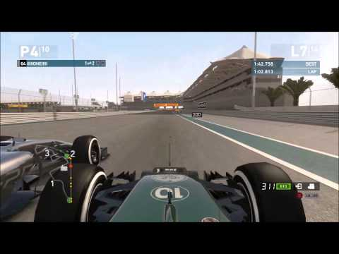 F1LINE -  F1 2014 Gameplay - Final Round ABU DHABI