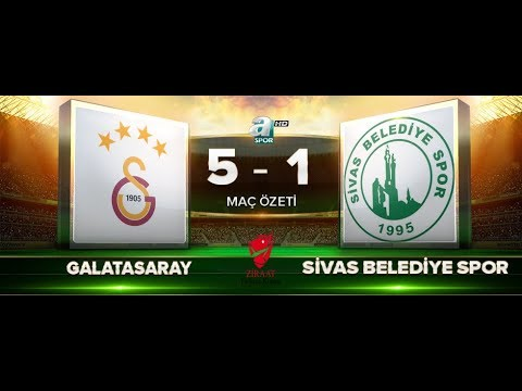 Galatasaray 5-1 Sivas Belediyespor | Maç Özeti HD | a spor | 28.11.2017