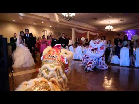 Traditional Chinese Lion Dance performers in Las Vegas