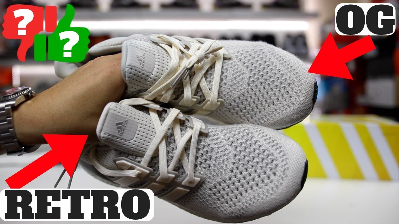 ba6d298c5 Worth Buying  adidas ULTRABOOST 1.0 CREAM CHALK Comparison Retro vs ...