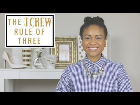 The J.Crew Rule of Three