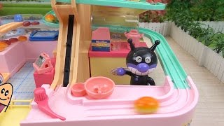 バイキンマンの手作りパン工場 Zoom goes the bread! Fun bread factory toy thumbnail