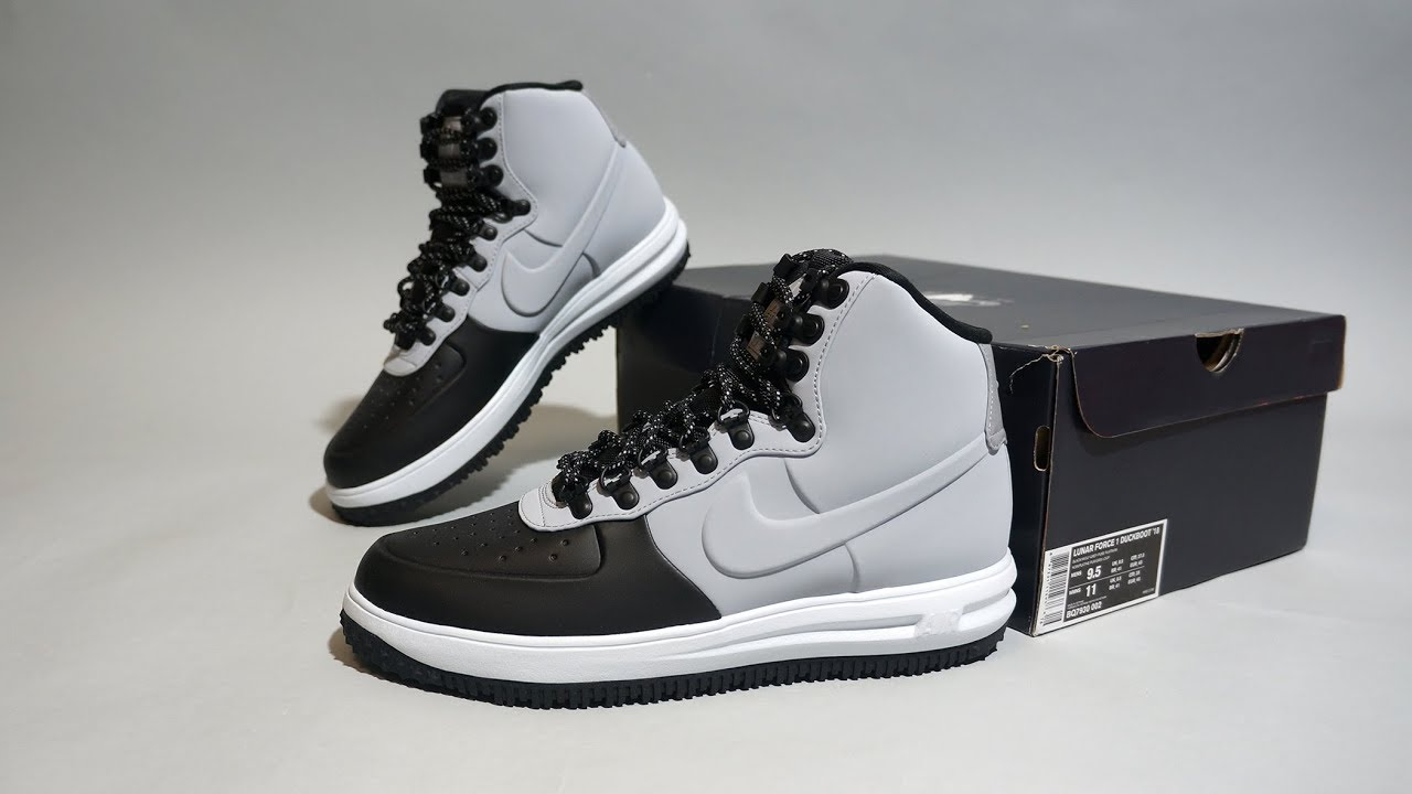4e433a77d52e7 Nike Lunar Force 1 Duckboot '18 Black BQ7930-002 - YouTube