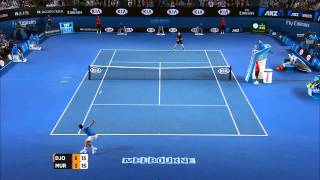 Smash off! Djokovic & Murray trade overheads - Australian Open 2015