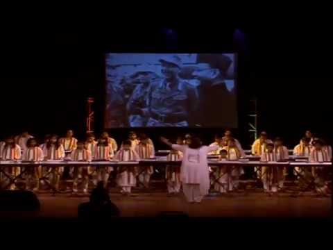 """Song """"Kadam Kadam Badhaye Ja"""" played by Musical Fingers & conducted by Shanoli Sen"""