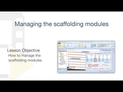 CerTus SCAFFOLDING Tutorial - Managing the scaffolding modules - ACCA software thumbnail