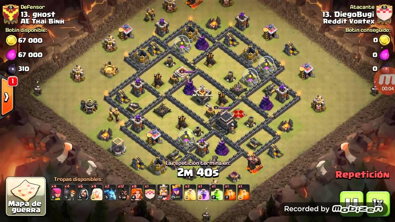 Download Queen Walk + GoVaHo - TH9 War Attack