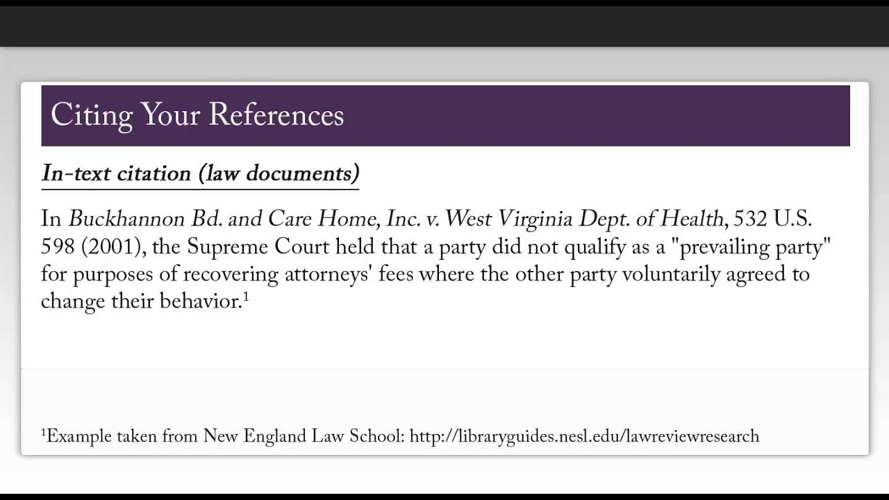 Law case study format example