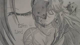 Dibujando a Lucy- Elfen Lied NYU/ Drawing Lucy