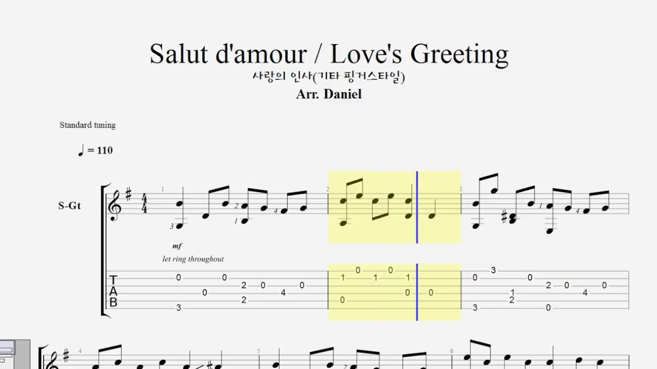 marriage d amour guitar sheet pdf