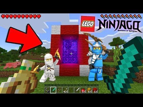 HOW TO MAKE A PORTAL TO THE LEGO NINJAGO DIMENSION - MINECRAFT LEGO NINJAGO