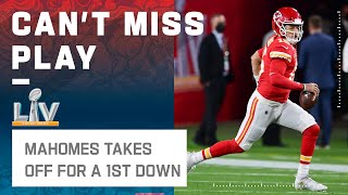 Mahomes Foxtrots His Way to a 1st Down!