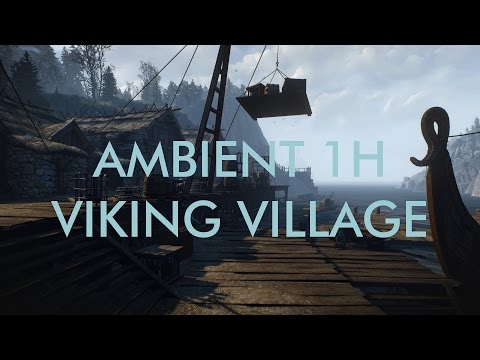 Ambient 1h Viking Harbour Fjord - Relaxing Ambient Work or m