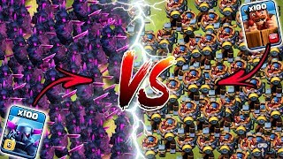 Max PEKKA vs Max Battle Machine Clash of Clans | 100 PEKKA vs 100 Battle Machine COC