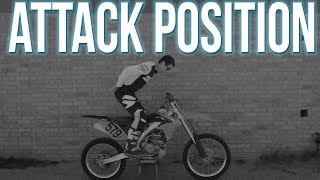 Correct Body Position for Motocross Attack Position