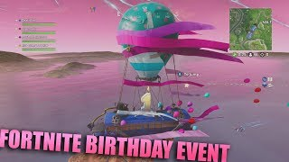 Fortnite 1st Birthday Event! New Compact Smg All Challenges and Skins! Awesome New Battle Bus!