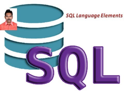 What are SQL Language Elements?