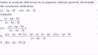 Ecuaciones diferenciales eliminación de variables 2