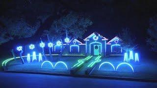 Крутое световое шоу в стиле Dubstep семьи Джонсонов 2015
