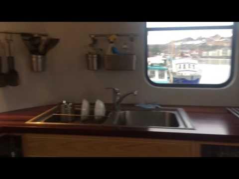Inside the Kyle Blue luxury hostel boat