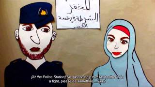 Animation on GBV issues for teh syrians in the Za'tri Camp 2013